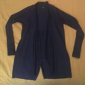 Lululemon open front sweater black